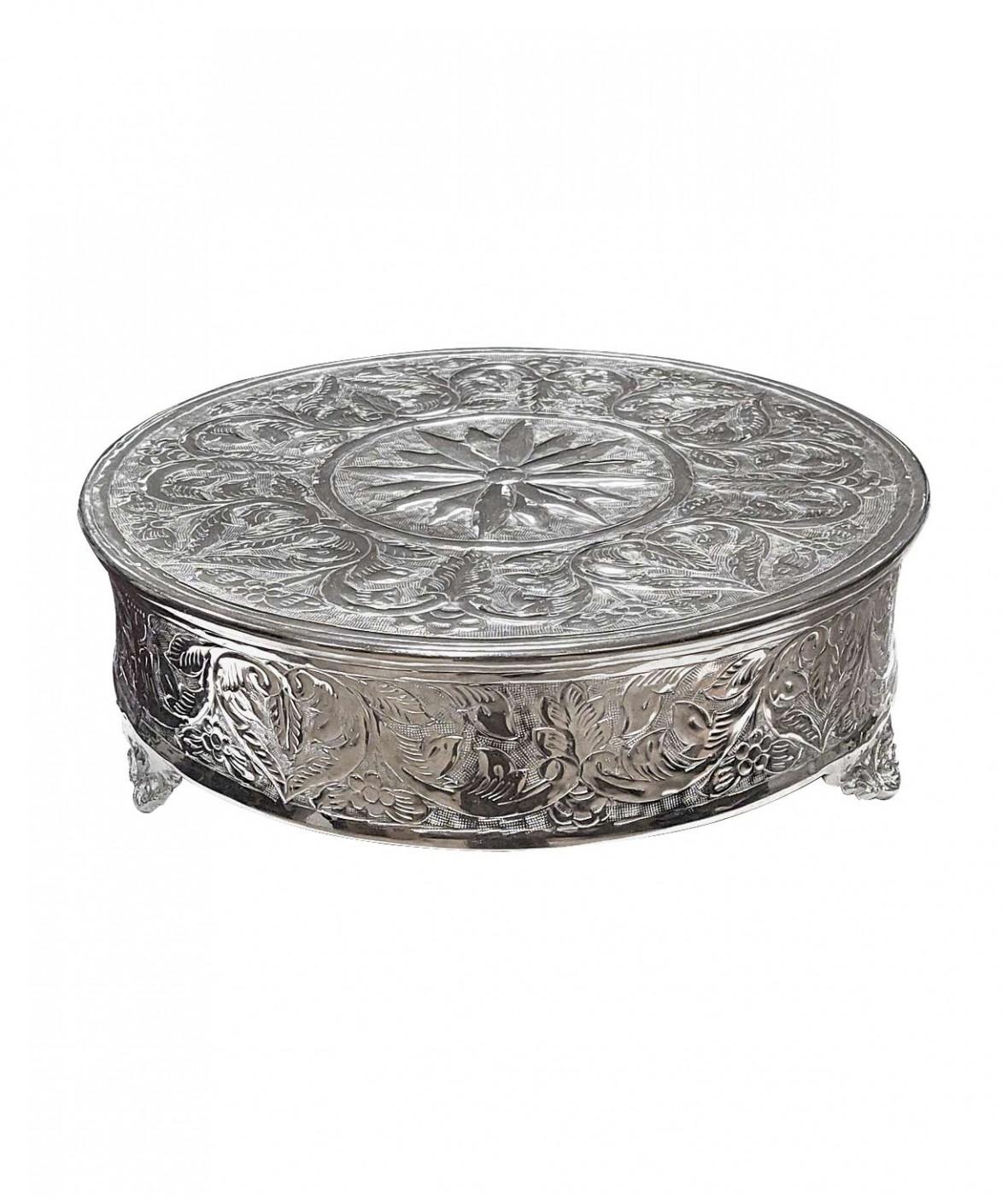 Подиум декоративный для торта или настольной декорации, чеканка ручной работы
