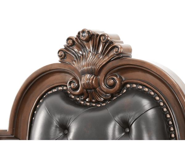 Кровать с кожаным изголовьем, размер Eastern King
