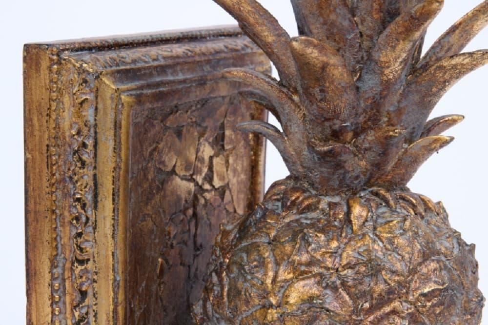 Декоративная опора для книг Ананас