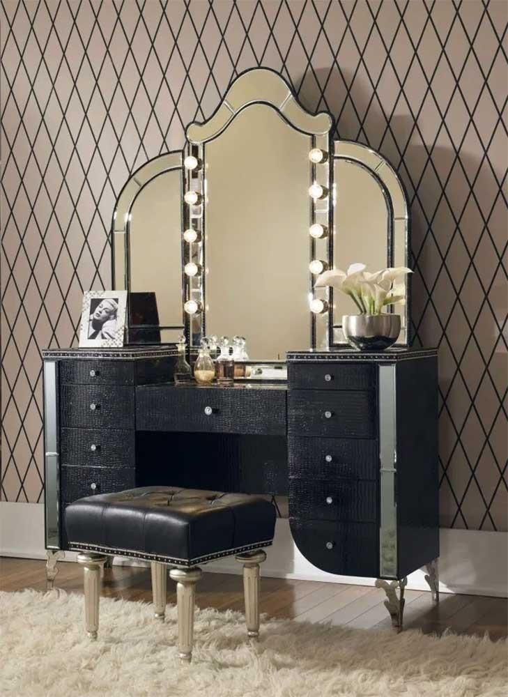 Туалетный столик с Зеркалом Black Iguana