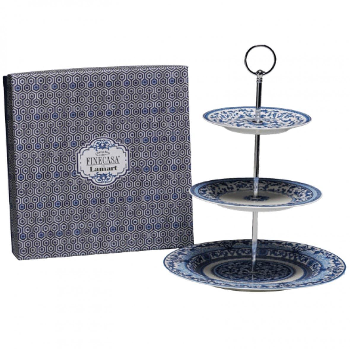 Этажерка для десертов, 3 уровня, English Blue