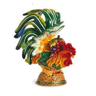Керамическая декоративная скульптура Петух Le Coq, 25 см