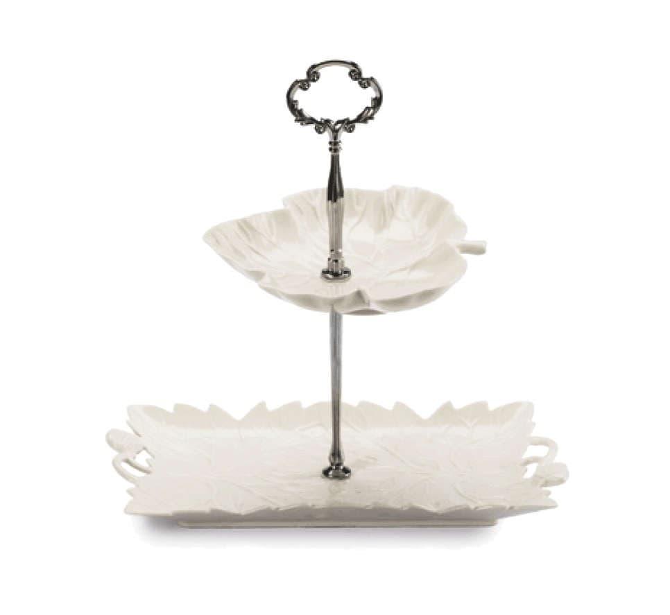 Этажерка для десертов, пярмоугольник, 2 уровня