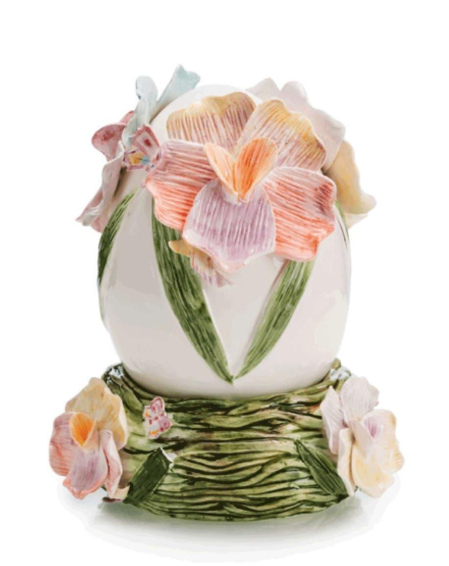 Коллекционая декорация Яйцо, 18 см, ручная роспись, с подставкой