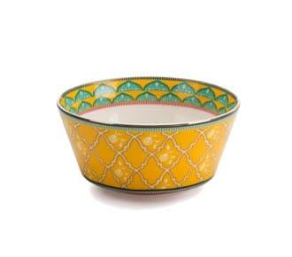 Чаша для десертов, желтый/мята