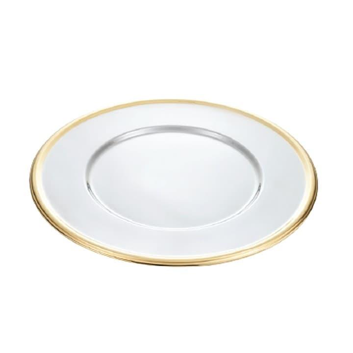 Подставное декоративное блюдо с золотым ободком Tulip