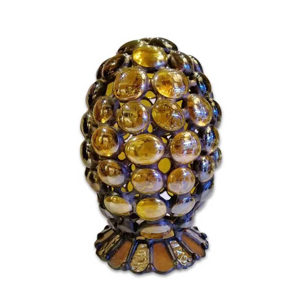 Декоративное яйцо Tiffany в подарочной упаковке (берест), электро свеча