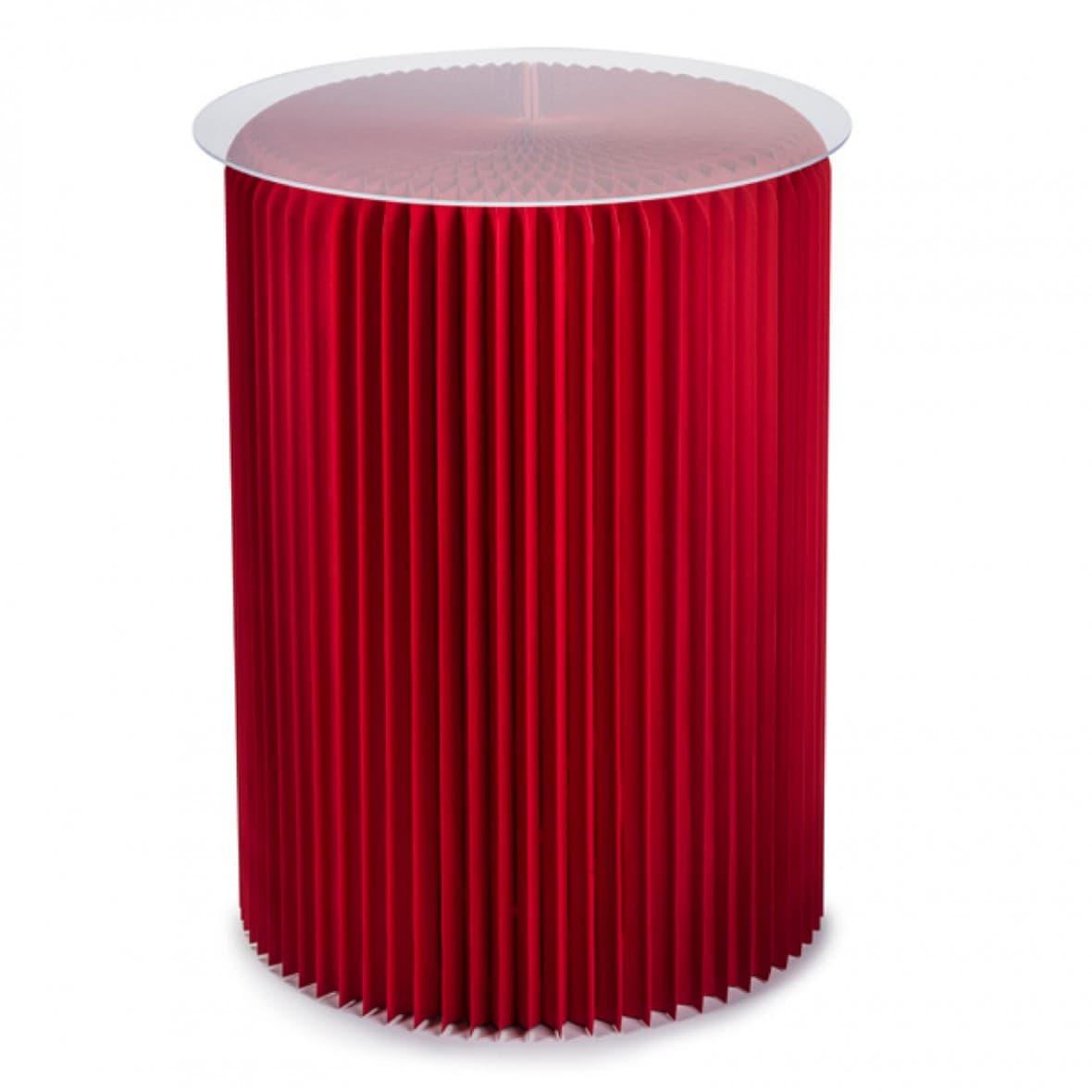 Столик под лампу высокий, красный