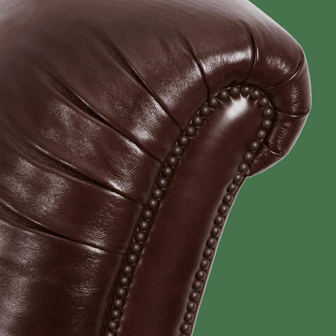 Кожаное клубное кресло Spice