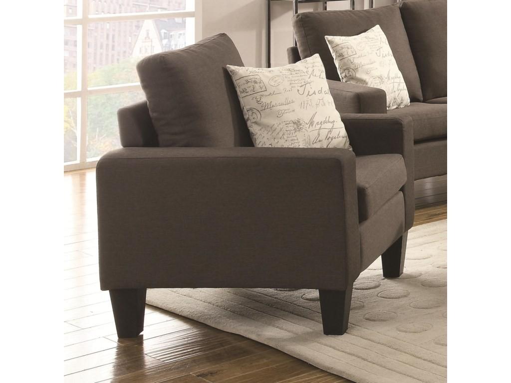 Bachman Кресло для ТВ коричнево-серый лен