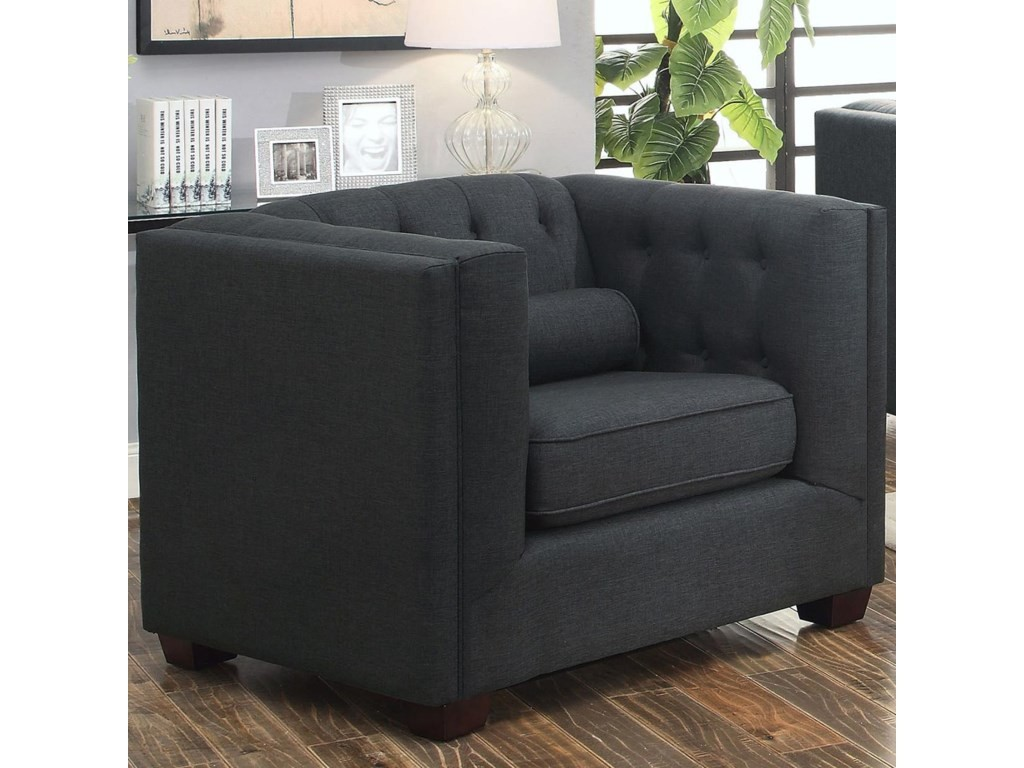 Cairns Кресло черное стеганая спинка