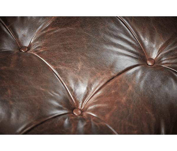 Кресло-оттоманка кожаное