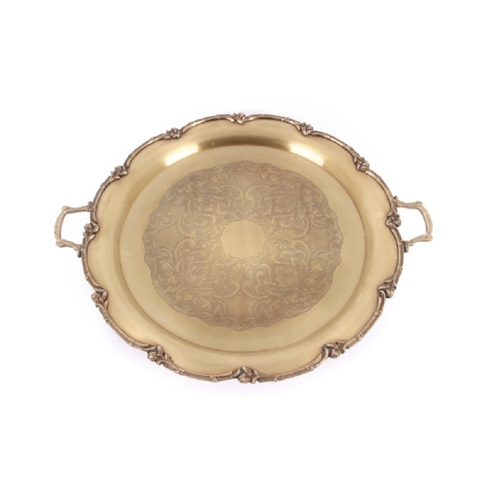 Поднос декоративный, круглый, борт оформлен фестонами