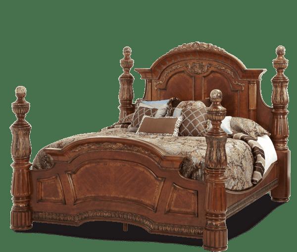 Кровать с декоративными колоннами Размер Cal King