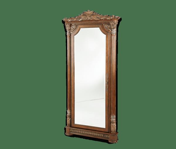 Напольное зеркало со скрытыми полочками
