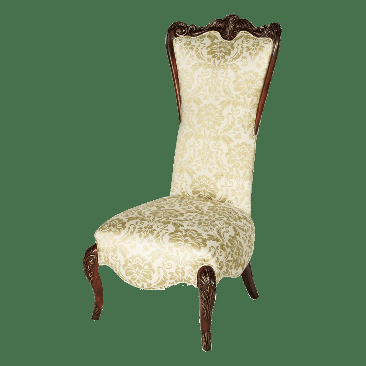 Кресло акцентное с высокой спинкой, Champagne