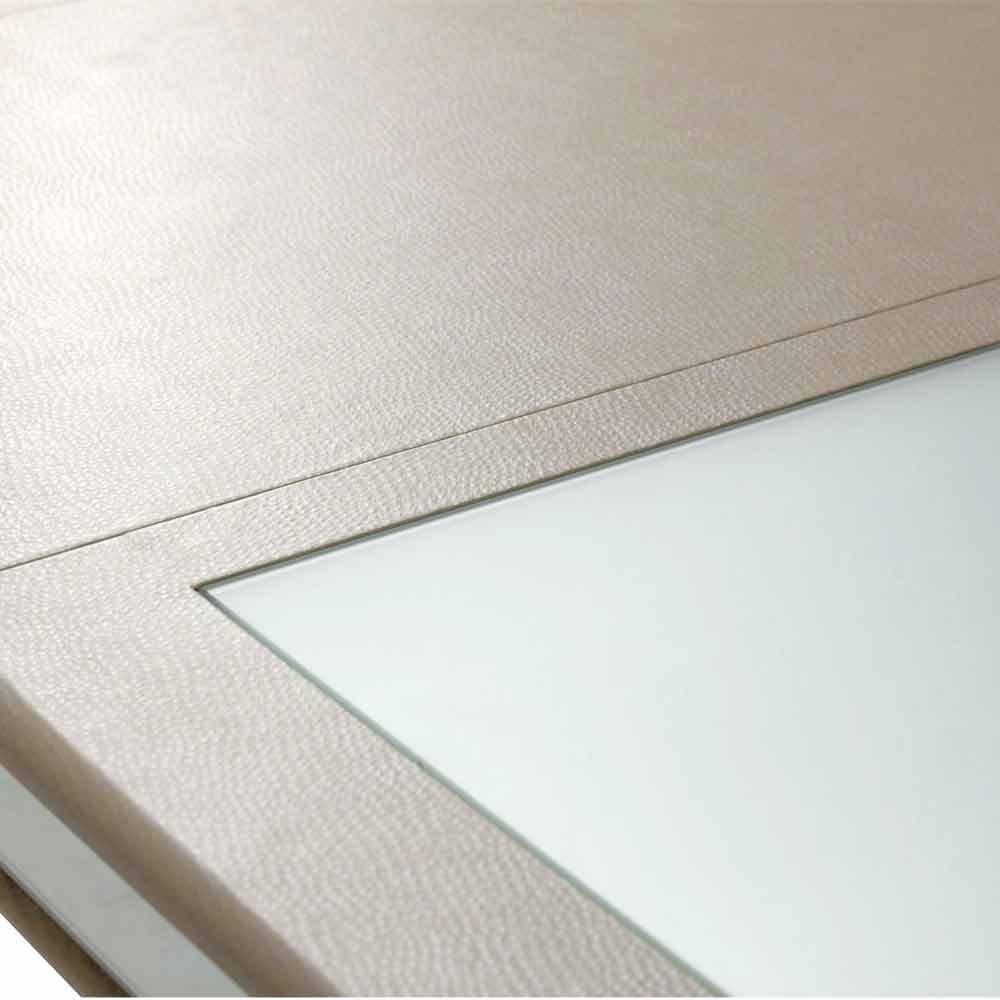 Обеденный стол со стеклянными вставками (с двумя вставками по 60 см)