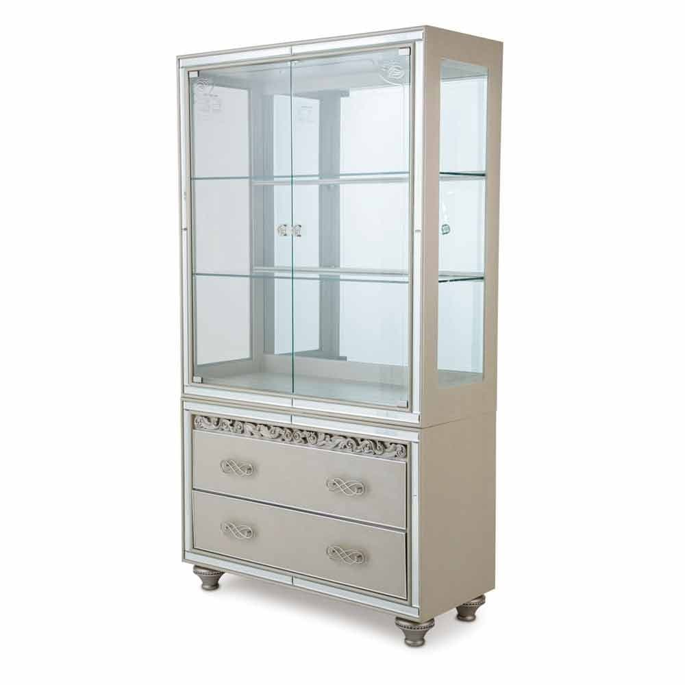 Книжный шкаф-витрина со стеклянными дверцами