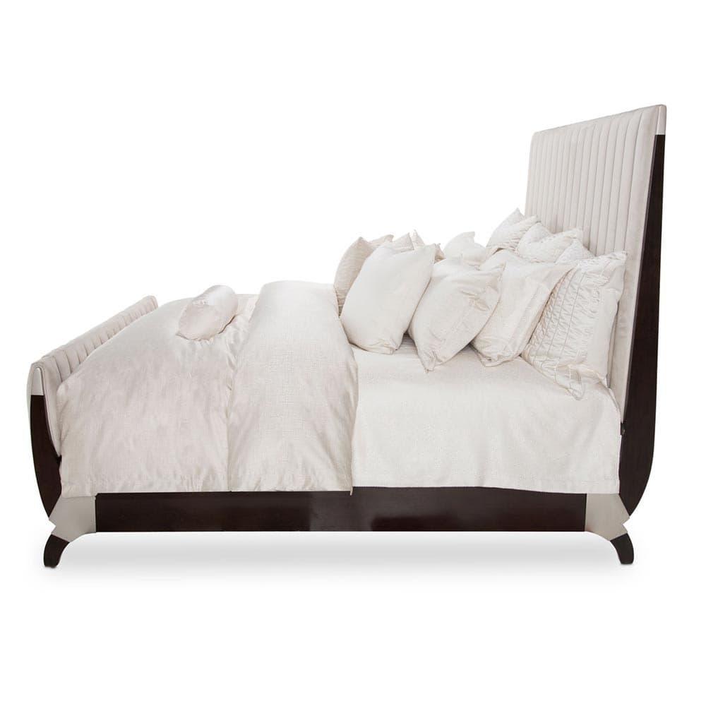 Кровать со строченой панелью, Размер Queen