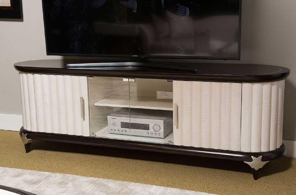 Консоль для ТВ с вертикальными наборными стенками, Espresso