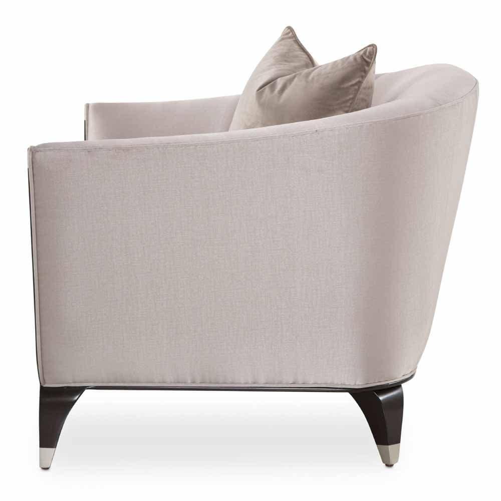 Широкое кресло с одной декоративной подушкой, TRUFFLE