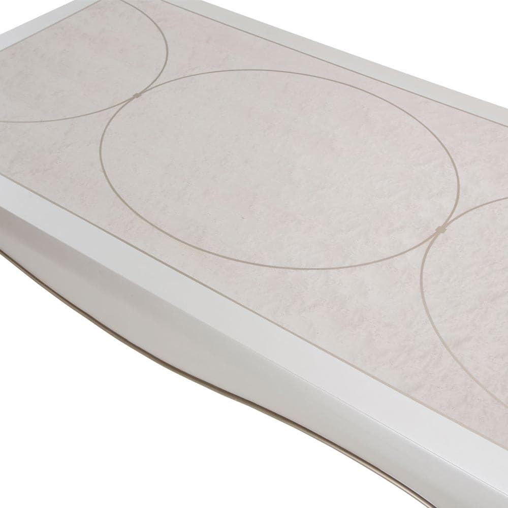 Столик журнальный прямоугольный, цвет Creamy Pearl