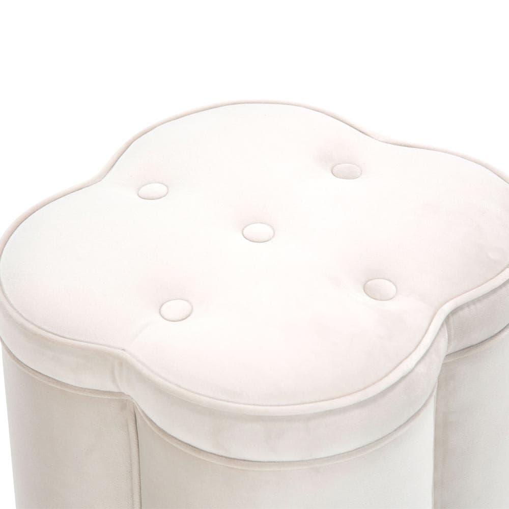 Пуфик на колесиках для туалетного столика