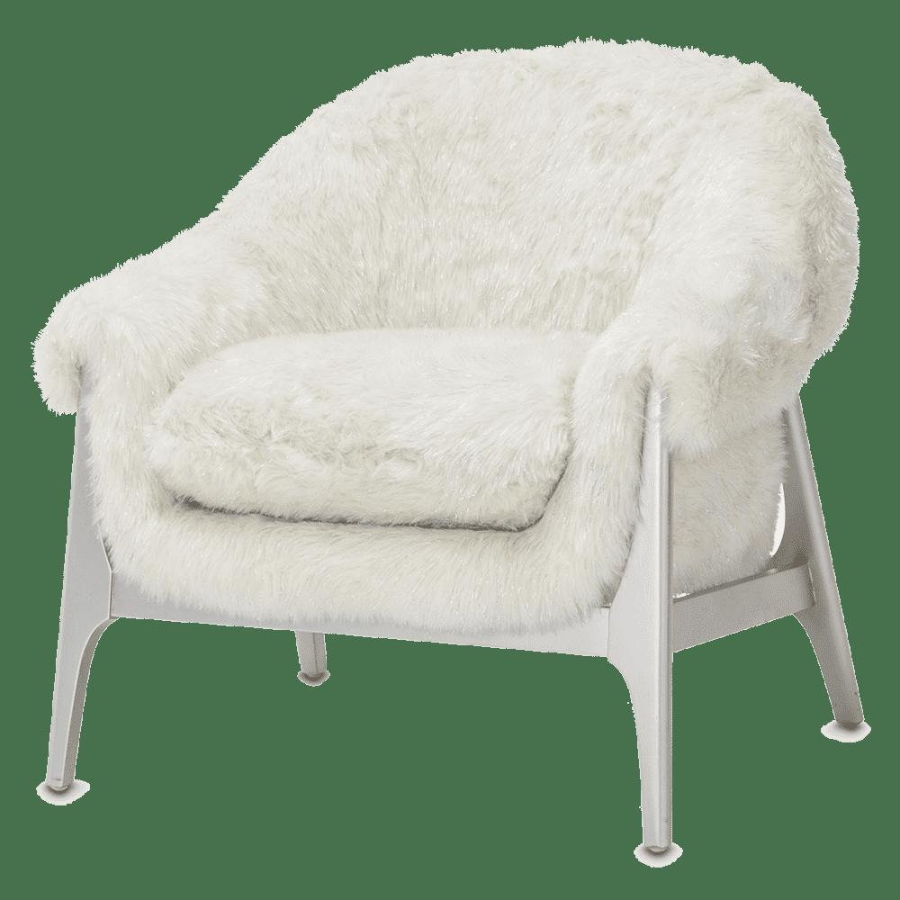 Кресло акцентное с меховой обивкой, Fox Frosen