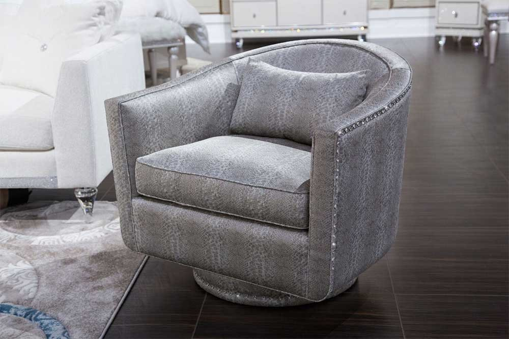 Кресло поворотное, отделка Nickel