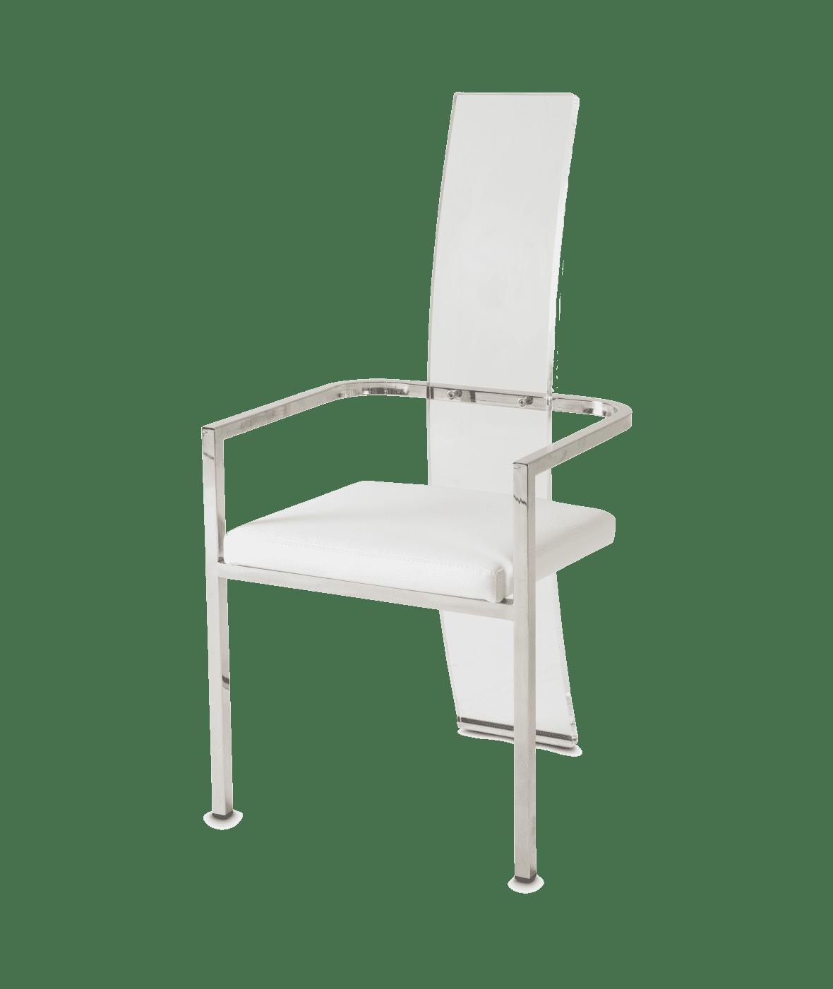 Кресло обеденное, прозрачное