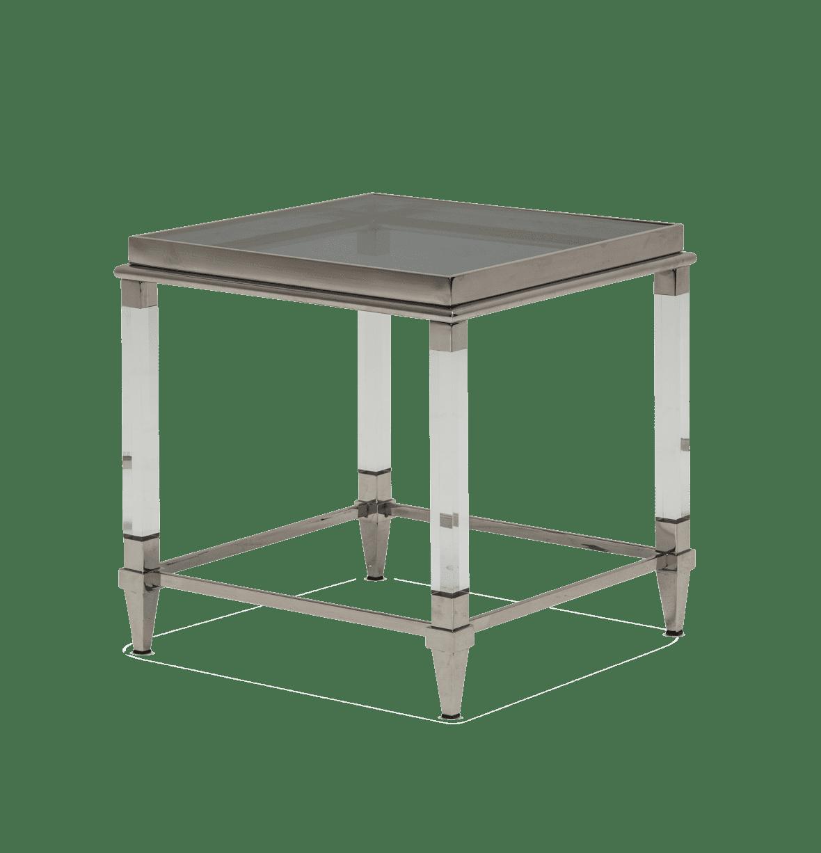 Стол под лампу с дымчатым стеклом