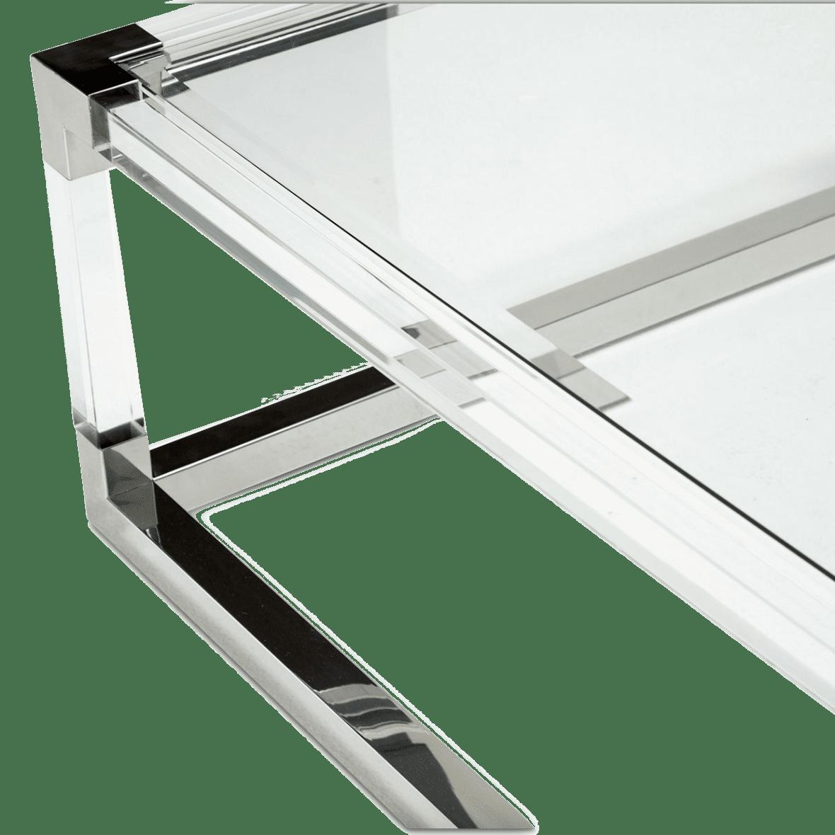 Стол журнальный прямоугольный в прозрачной раме