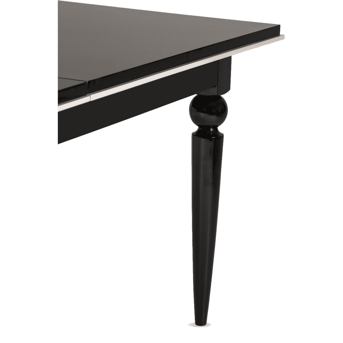 Стол обеденный прямоугольный Black Ice (включая 1 вставку на 44 cm )