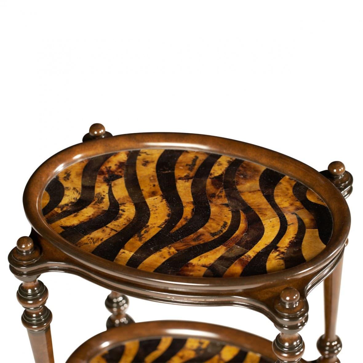 Декоративный столик Зебра, 2 уровня подносов