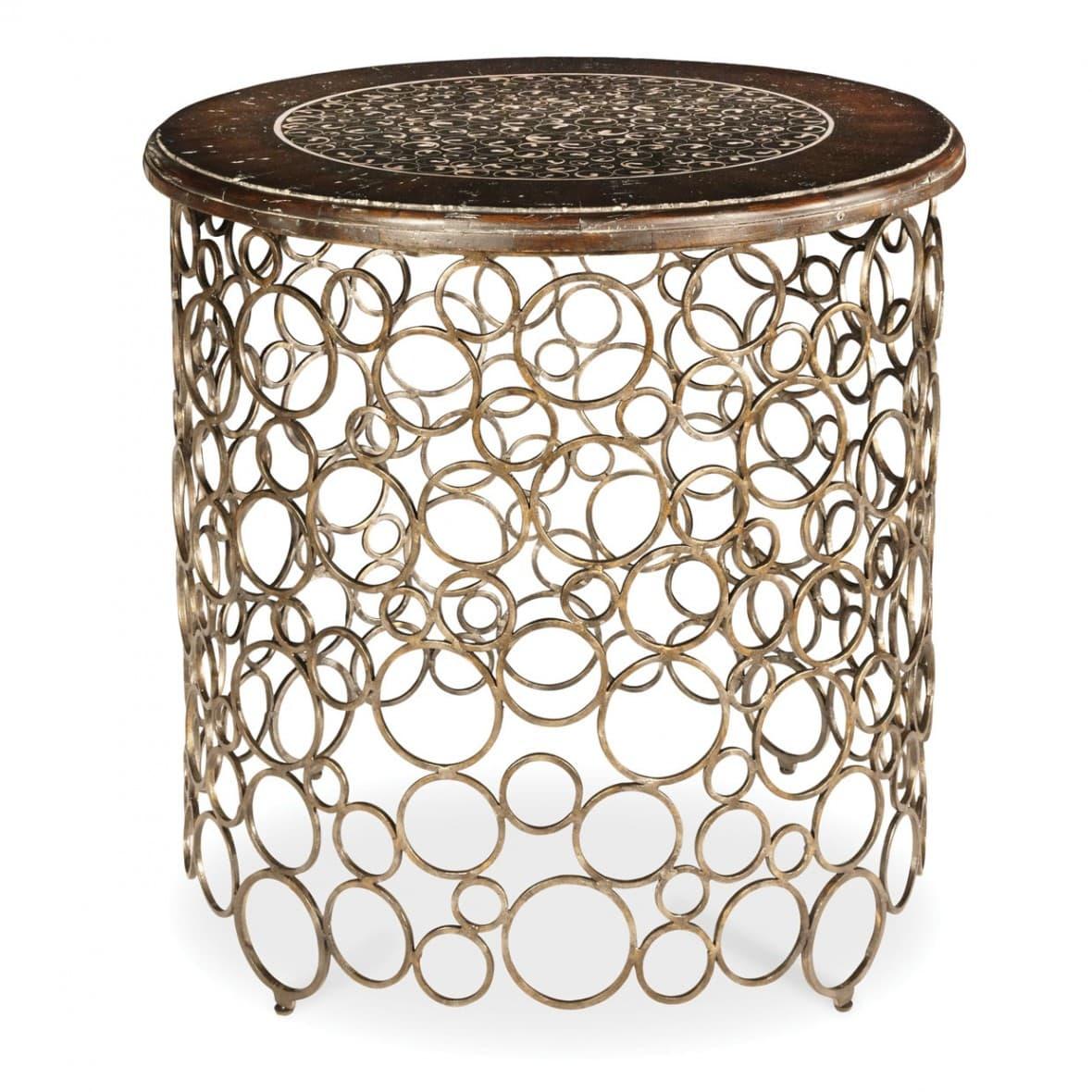 Декоративный столик на кованой пене