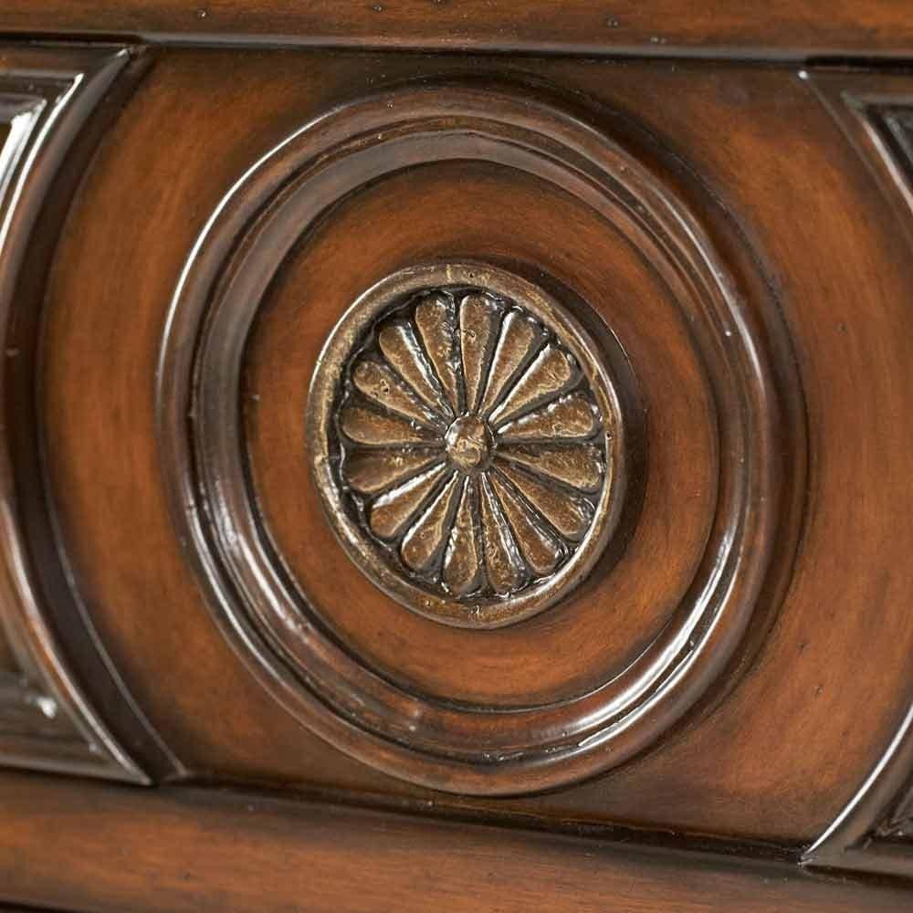 Деревянная резная тумба, 2 двери