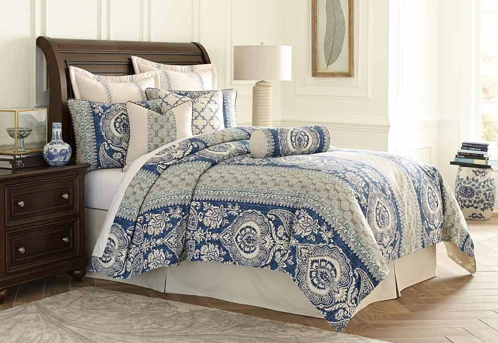 """La Rochelle"" Декоративное покрывало и подушки, набор из 10 предметов  (King) цвет Cadet"