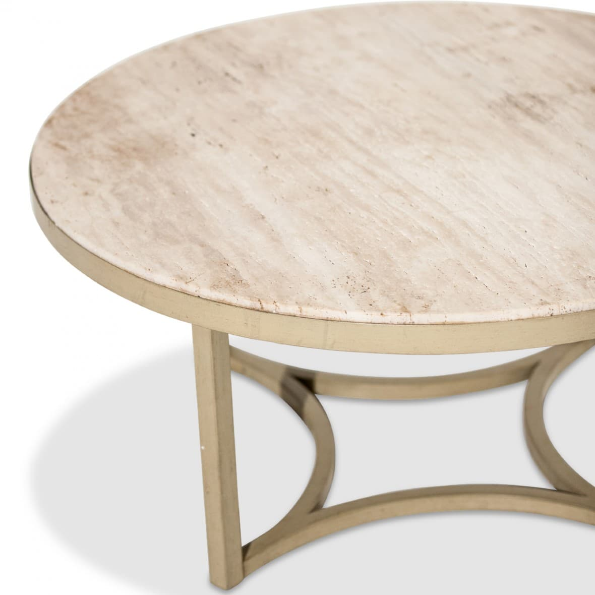 Alta Круглый коктейльный стол с верхом из мрамора Травертин
