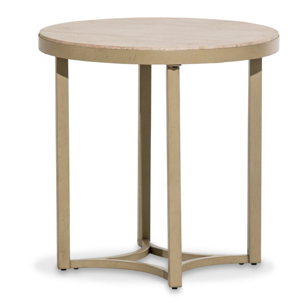 Alta Круглый приставной стол, топ мрамор Travertine