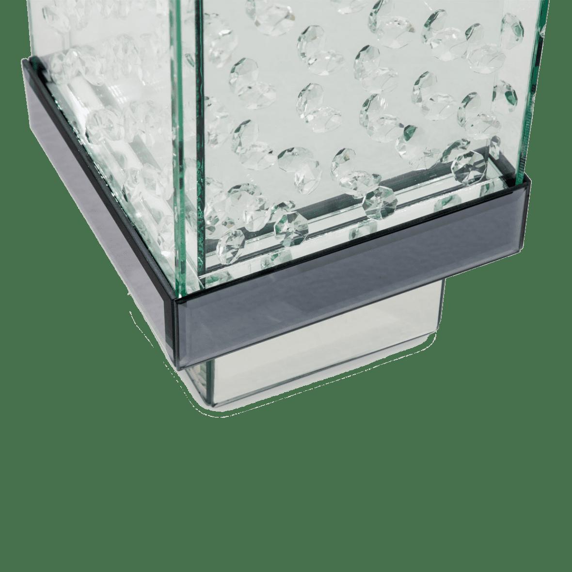 Ваза Прозрачный кристалл, низкая