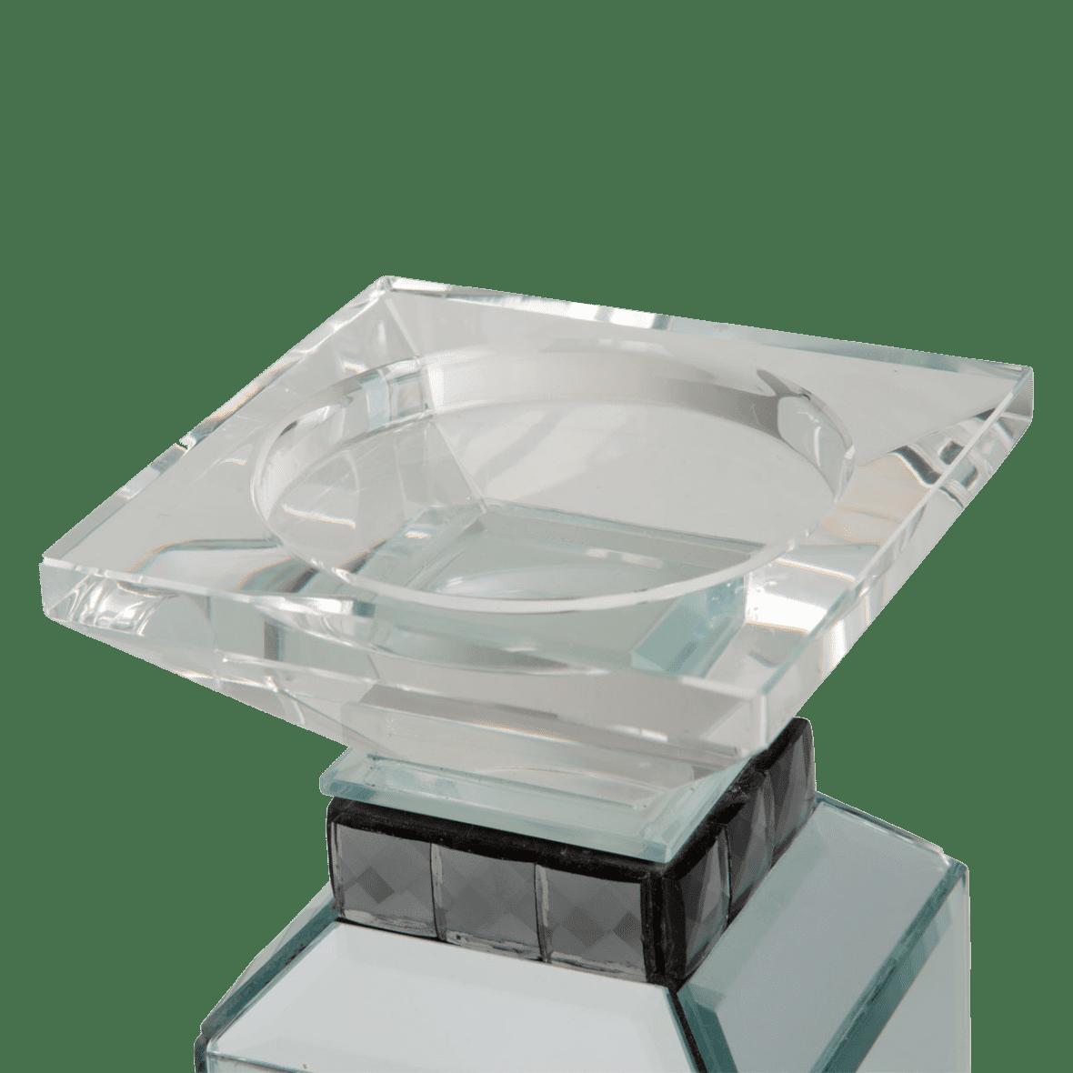 Зеркальный подсвечник 3 уровня