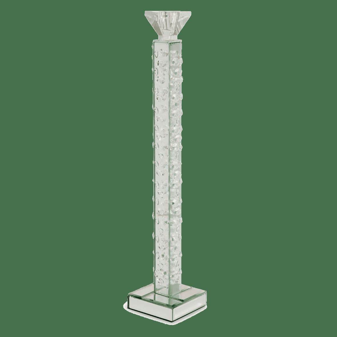 Зеркальный подсвечник, рельефная колонна, высокий
