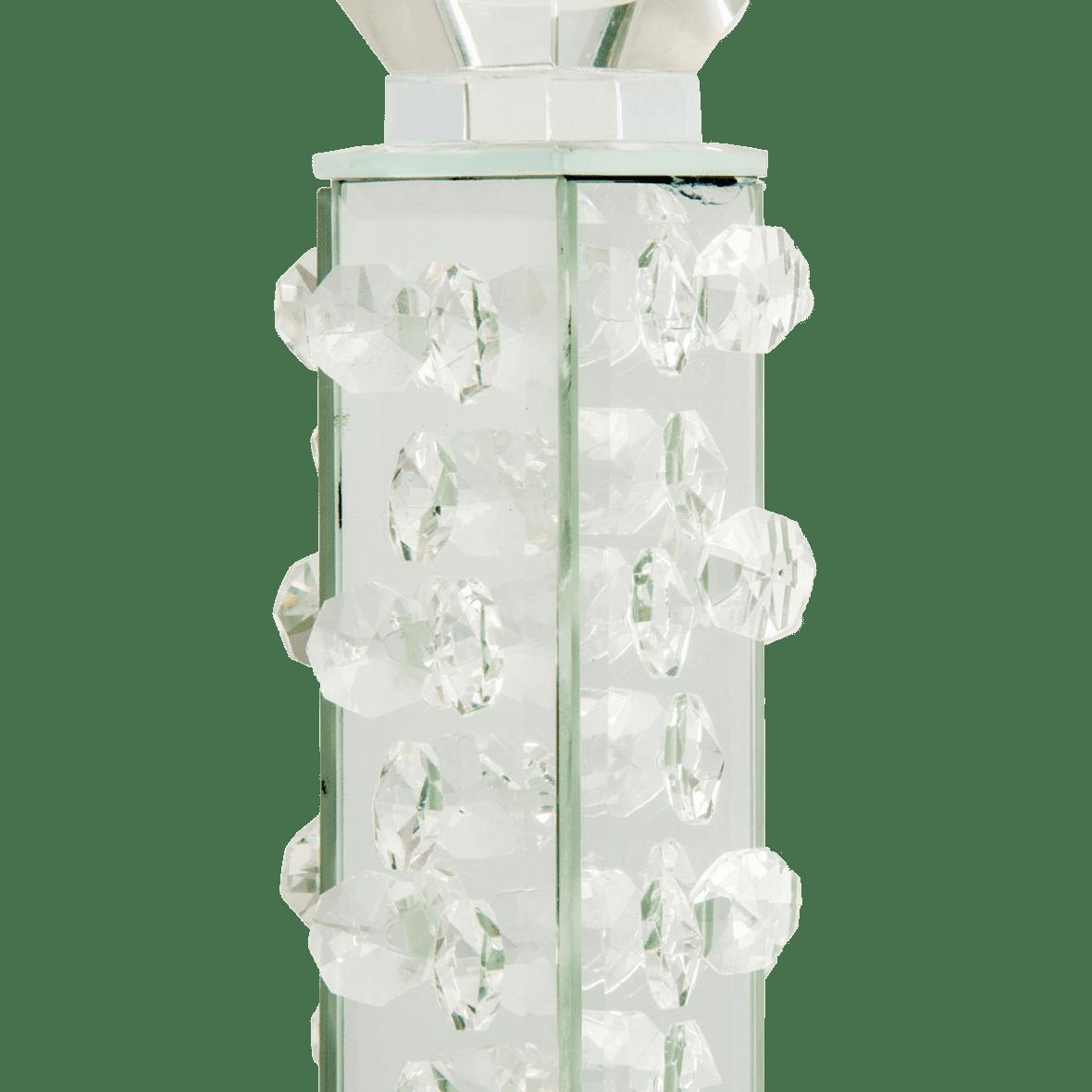 Зеркальный подсвечник, рельефная колонна, низкий