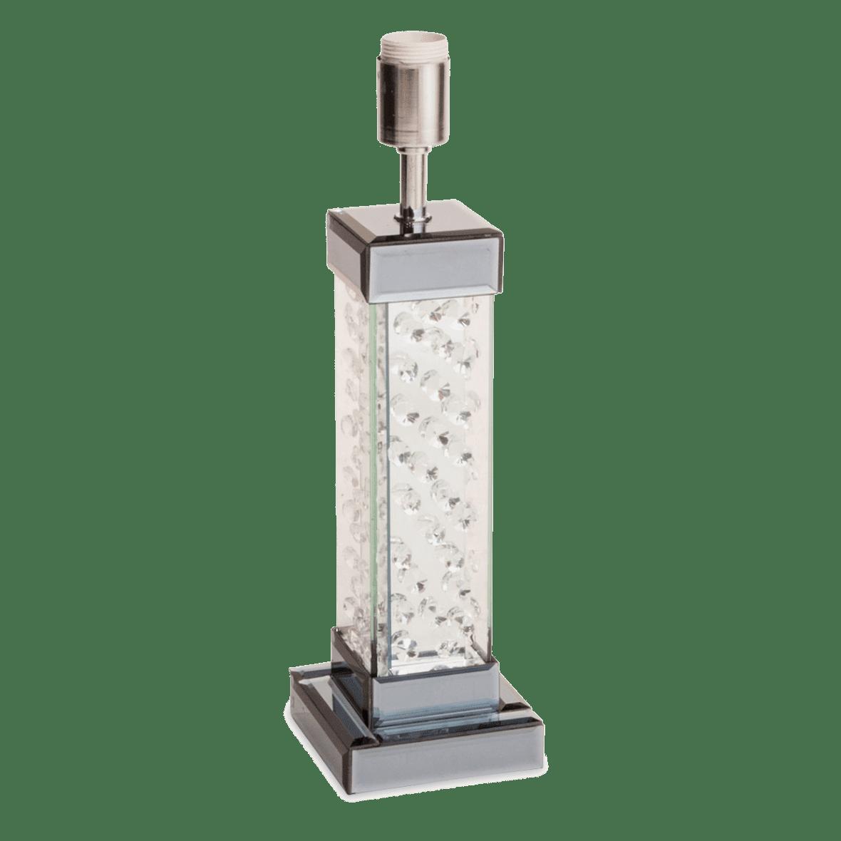 Настольная лампа Хрустальная колонна, грань
