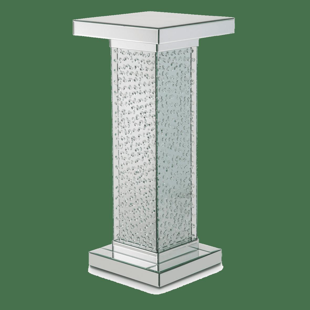 Зеркальный акцентный стол с хрустальной отделкой, средний
