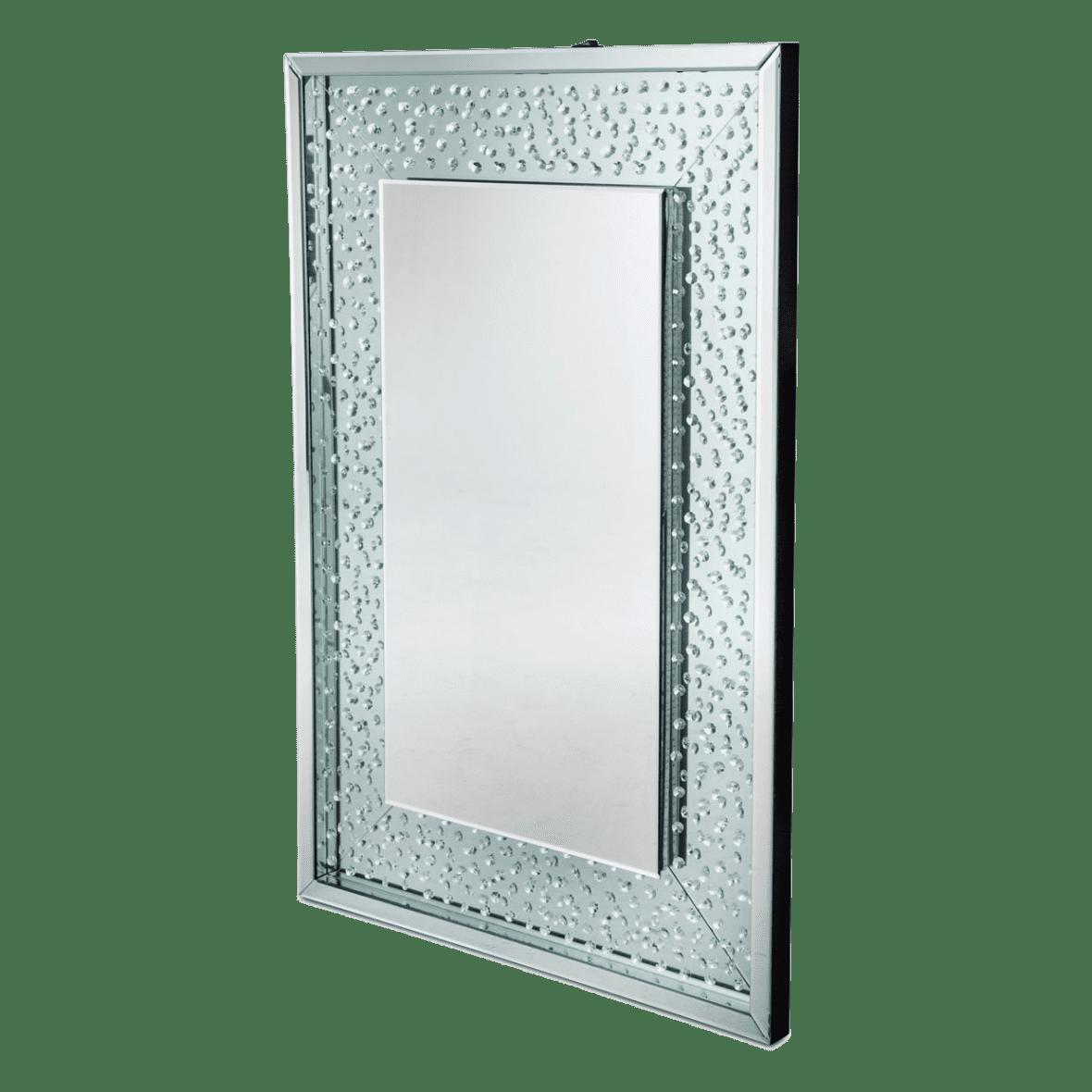 Зеркало прямоугольное с подсветкой, белая рама