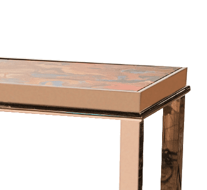 Консоль Mystique Console Table Rose Gold