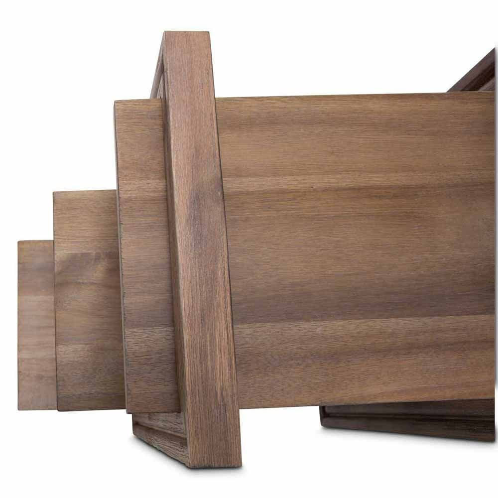 Приставной квадратный столик с полочками