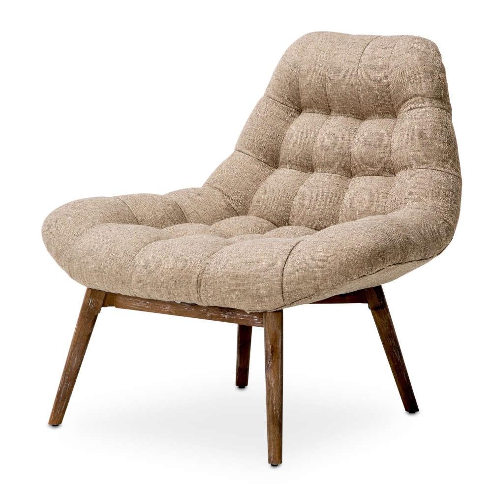 Стеганое акцентное кресло Беж
