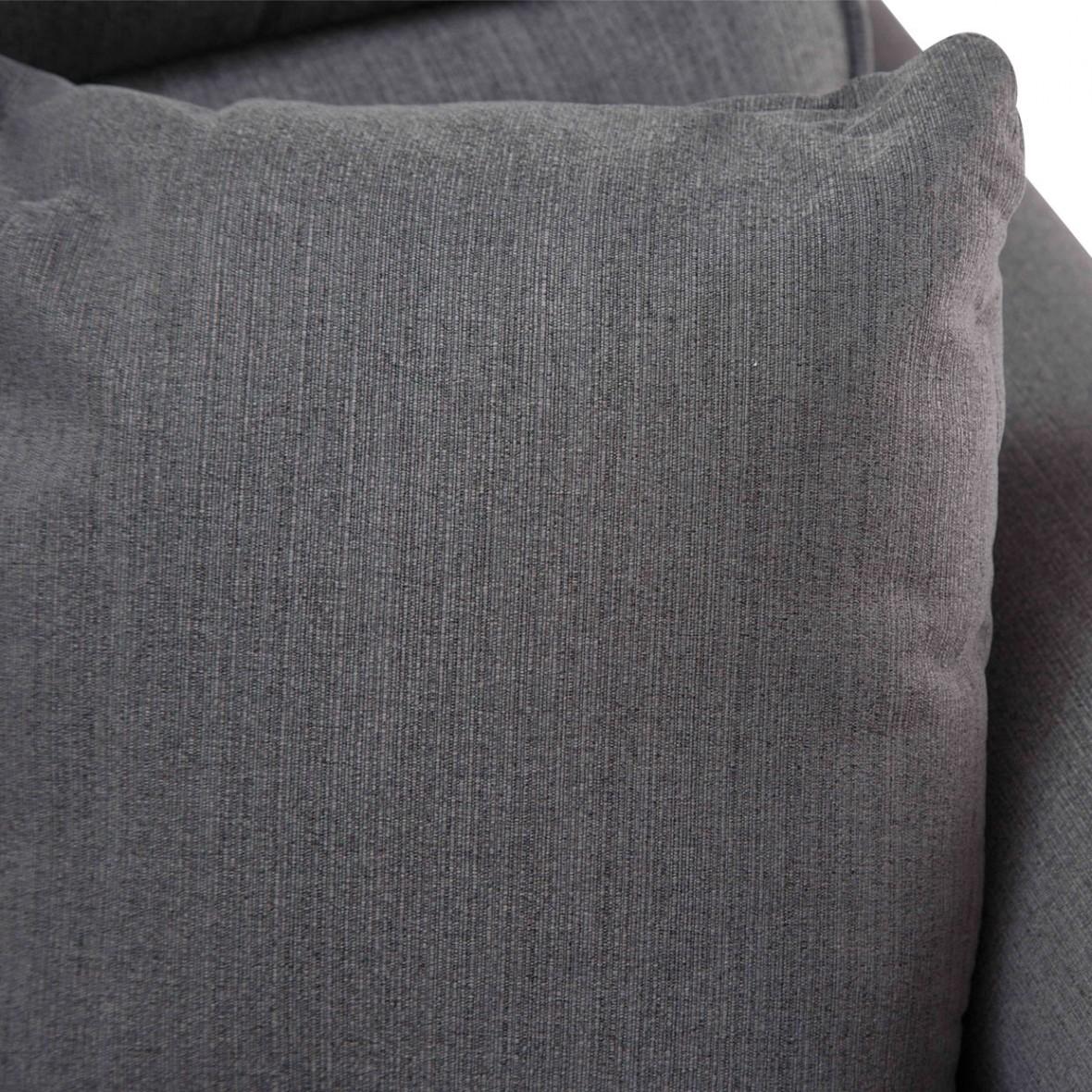 Софа 3-местная, цвет Графит, 2 декоративных подушки